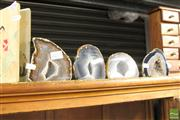 Sale 8478 - Lot 2277 - 4 Small Agate Caves