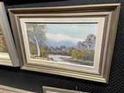 Sale 8898 - Lot 2086 - Norma Kett - Mount Feathertop, oil on canvas board, 50 x 69cm (frame), signed lower right