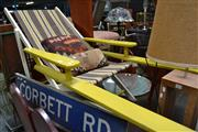 Sale 8138 - Lot 992 - Vintage Deck Chair with Long Arms