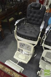 Sale 8277 - Lot 1023 - An Antique Barbers Chair