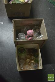 Sale 8407T - Lot 2454 - Boxes of Sundries (2) incl Crystal Vases & Drinkware