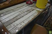 Sale 8431 - Lot 1044 - Trestle Table with Metal Legs
