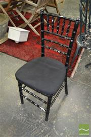 Sale 8465 - Lot 1667 - Set Of Three Bamboo Style Dining Chairs