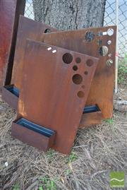 Sale 8532 - Lot 1214 - Set of 3 Rustic Modern Wall Planters