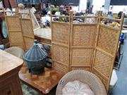 Sale 8680 - Lot 1055 - Cane Dressing Screens x 2