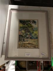 Sale 8811 - Lot 2093 - 2 Works: A watercolour by Charles Newman plus another watercolour by M Tegel