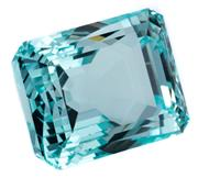 Sale 8937 - Lot 369 - AN UNSET 88.30CT EMERALD CUT AQUAMARINE; fine medium blue colour, no evidence of enhancements, 27.14 x 20.68 x 19.37mm.