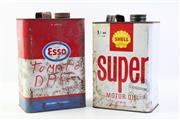 Sale 8997 - Lot 7 - Shell Tin And An Esso Example