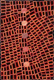Sale 9015J - Lot 103 - Walala Tjapaltjarri (1960 - ) - Tingari 148 x 100 cm (stretched and ready to hang)
