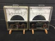 Sale 9022 - Lot 1049 - Pair of Over Sized Ammeters