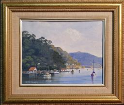Sale 9208 - Lot 2087 - Keith Duffy Calm Waters, Hawkesbury oil on canvas laid on board, 31 x 36 cm,
