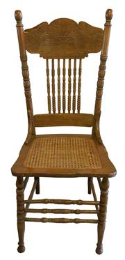Sale 8258A - Lot 61 - Set of 8 American spindle back press dining chairs with cane seats six chairs and two carvers, RRP $2900