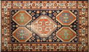 Sale 8276B - Lot 24 - Antique Russian Kazak 184cm x 115cm RRP $900