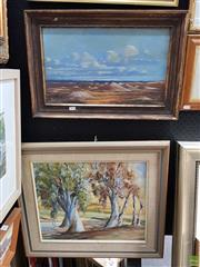 Sale 8587 - Lot 2087 - 2 Oil Paintings, One Signed