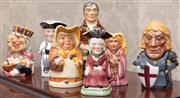Sale 8649A - Lot 15 - A collection of seven Toby jugs including Tony Woods Crusader, etc, various sizes