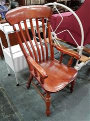 Sale 8724 - Lot 1073 - Victorian Provincial Armchair, with slatted back & turned legs