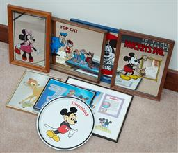 Sale 9103H - Lot 92 - A quantity of Disney memorabilia mainly Mickey Mouse including mirrors and tray 41cm x 30.5cm