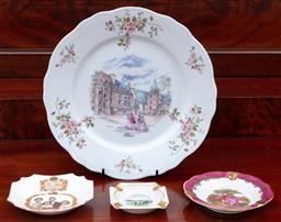 Sale 9190H - Lot 204 - A small group of bone China including Limoges, largest Diameter 25cm