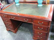 Sale 7937A - Lot 1181 - Twin Pedestal Desk with Leather Insert Top