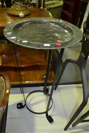 Sale 8093 - Lot 1428 - Glass Platter on Stand