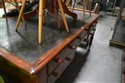 Sale 8093 - Lot 1733 - Victorian Mahogany Partners Desk, each side fitted w five drawers (key in office)