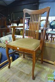 Sale 8326 - Lot 1718 - Spindle Back Carver Chair with Upholstered Seat