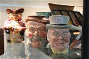 Sale 8362 - Lot 264 - Royal Doulton Toby XX Toby Jug with Two Lancaster Examples