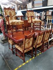 Sale 8700 - Lot 1021 - Timber Extension Dining Table & Six Chairs