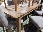 Sale 8724 - Lot 1081 - Recycled Elm Rustic Finish Dining Table (L: 180cm)