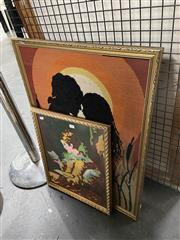 Sale 8924 - Lot 2094 - 2 Works: Framed Tapestry Of Lovers and Another Example
