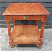 Sale 8996 - Lot 1053 - Two Tier Timber Side Table (H:55 x W:50 x D:50cm)