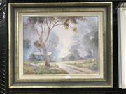Sale 9033 - Lot 2009 - Otto Kuster Mudgee Morning 1985 oil on board 49 x 60cm (frame) signed lower left
