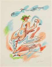 Sale 8658A - Lot 5052 - André Masson (1896 - 1987) - LAmour, 1967 64 x 52cm