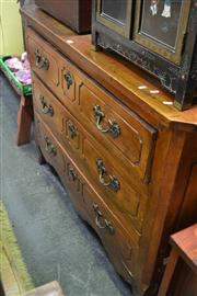 Sale 8050B - Lot 6 - Antique French Mixed Fruit Wood Commode Chest of 3 Drawers (Restorations)