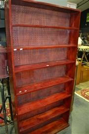 Sale 8093 - Lot 1390 - Tall Mahogany Open Bookcase w 6 Shelves