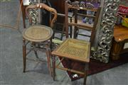 Sale 8099 - Lot 865 - Chairs with Rattan Seats x 2
