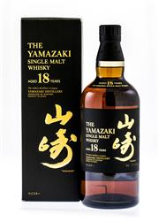 Sale 8261A - Lot 76 - Yamazaki 18yo, An increasingly hard to find whisky from Yamazaki, the first distillery to be built in Japan in 1923. Matured in a co...