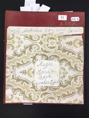 Sale 8539M - Lot 85 - Keith Abson's 'Magic Scrapbook, Royal Australian Conjuring Papers', book no. 8. Clippings with Abson's pro tips