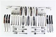 Sale 8877 - Lot 91 - Hallmarked Sterling Silver Suite Of Cutlery (12 Of Each Type) Sheffield, c1979 By Gee & Holmes