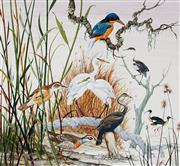 Sale 8943A - Lot 5018 - Ralph Malcolm Warner (1902 - 1966) - Swamp Birds of Australia, c1959 gouache
