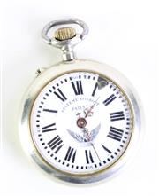 Sale 8985 - Lot 89 - A Systeme Roskopf open faced pocket watch, damage to enamel