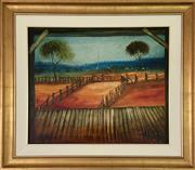 Sale 9044J - Lot 47 - Pro Hart - Farmer on Horse 50x60cm