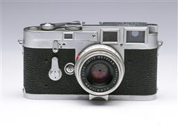 Sale 9093 - Lot 13 - A Leica M3 Camera, Fitted With Summicron Lens (1:2/35)