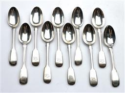Sale 9093 - Lot 79 - A Set Of Six Victorian Hallmarked Sterling Silver Teaspoons And Another Matched Set Of Four (10)