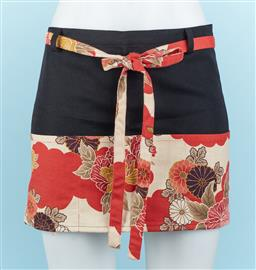 Sale 9092F - Lot 67 - A JAPANESE SHORT SKIRT, with wrap around tie. Size M