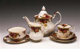 Sale 9119 - Lot 176 - A Royal Albert Old country roses teapot together with A trio and others