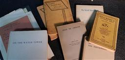 Sale 9208 - Lot 2010 - Collection of Books & Ephemera incl. programmes, Thorpe, C. Card Fortune Telling; Brisy, S. Doubt the Liberator, 1934; Besant, A...