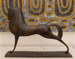 Sale 9248H - Lot 83 - A small bronze of a stylized horse. length 49 x height 38cm
