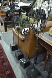 Sale 8093 - Lot 1026 - Set of 4 Leaf Form Candle Holders