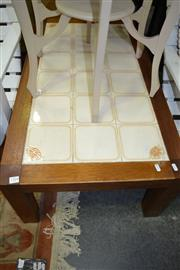 Sale 8115 - Lot 1079 - Tile Top Coffee Table